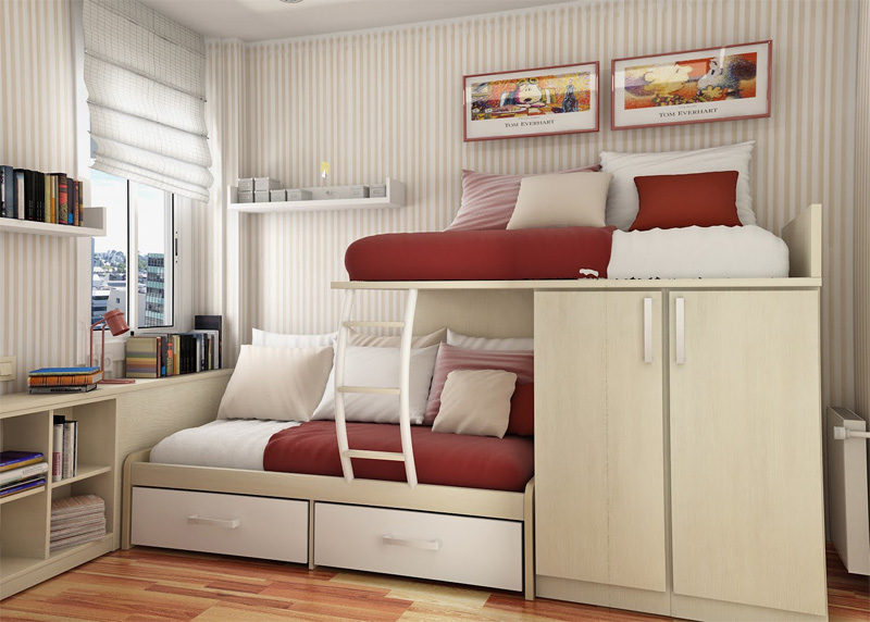 55 Thoughtful Teenage Bedroom Layouts - DigsDigs on Teenage Small Bedroom Ideas  id=15713