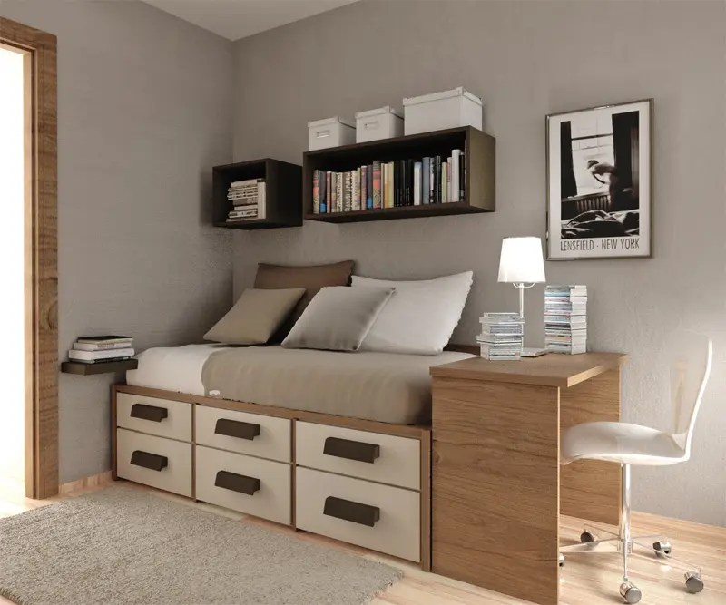 50 Thoughtful Teenage Bedroom Layouts | DigsDigs on Teenage Beds For Small Rooms  id=57182