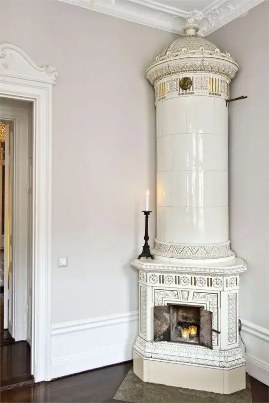 29 Traditional Tile Stoves In Home Dcor DigsDigs