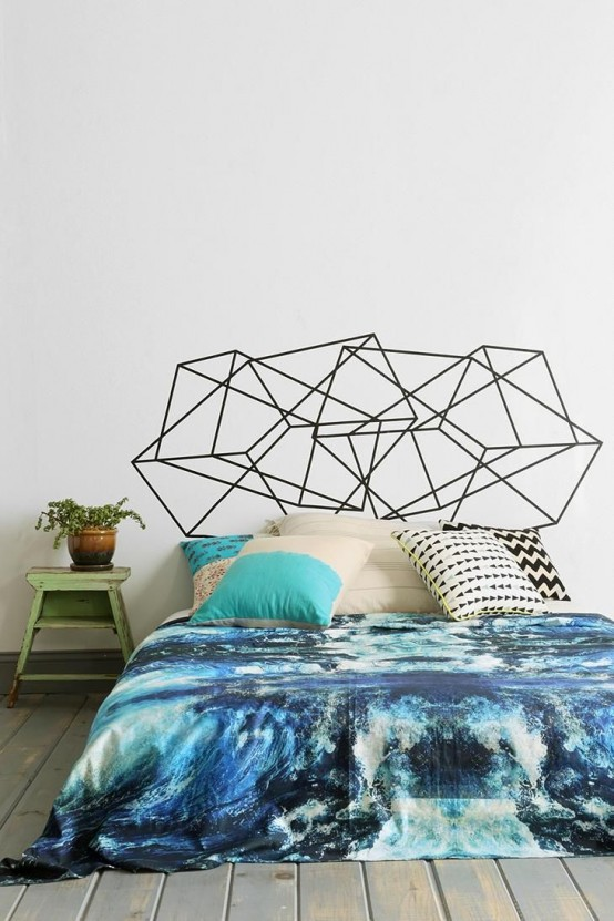 21 Trendy And Eye Catching Geometric Bedroom Dcor Ideas DigsDigs