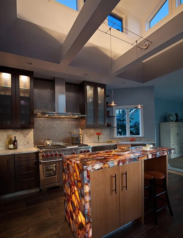 30 Unique Kitchen Countertops Of Different Materials ... on Modern:0Bjn4Cem9Be= Kitchen Counter  id=24472