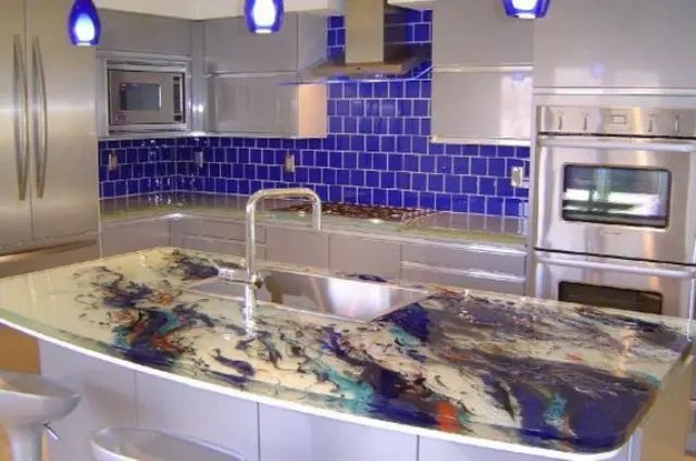 30 Unique Kitchen Countertops Of Different Materials ... on Modern:0Bjn4Cem9Be= Kitchen Counter  id=11730