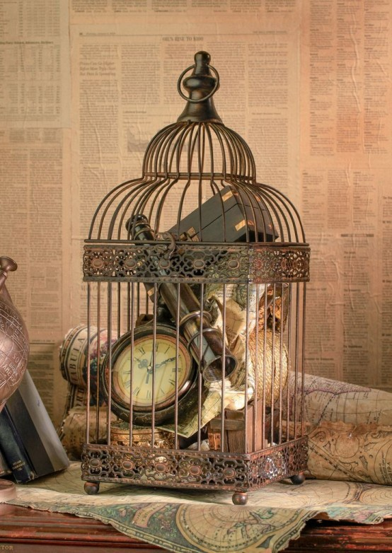 Romantic Decorations Bird Cage With Candles
