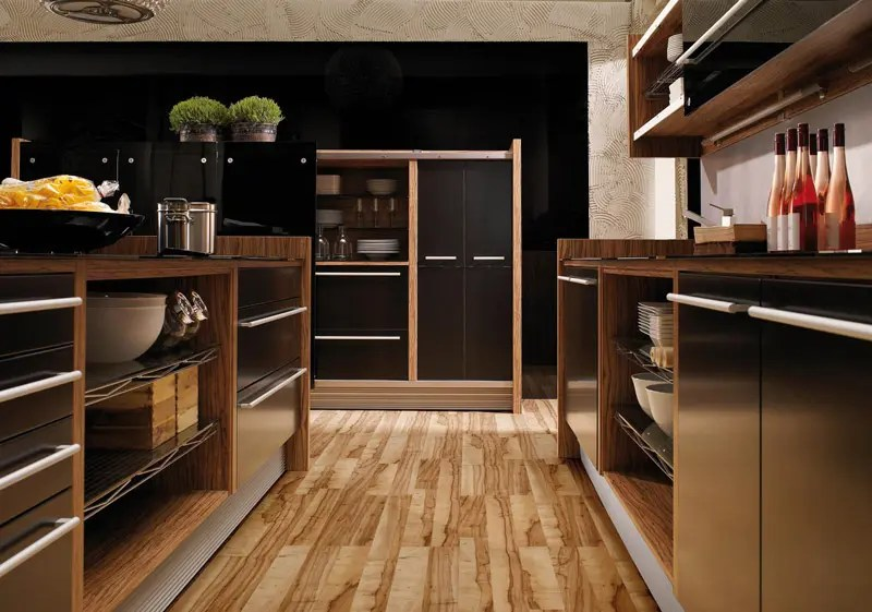 glossy lacquer with natural wood kitchen design vitrea on kitchen kitchen design ideas inspiration ikea id=54632