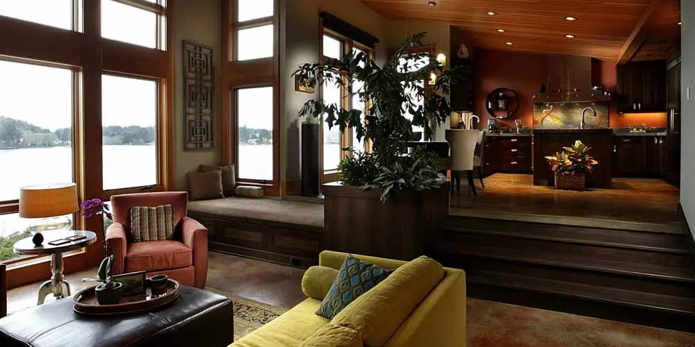 Waterfront Lake House with Agrarian and Contemporary ...