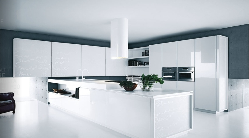 Modern Pure White Kitchen Cabinets And Accessories Yara