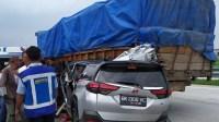 Toyota Rush Hantam Truk di Tol Tebingtinggi-Medan, Satu Orang Tewas