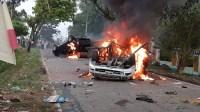 Ricuh Aksi Blokir Jalan di Madina, Warga Bakar Mobil Wakapolres