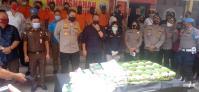 67 Kilogram Sabu dan 10.000 Ekstasi Dimusnahkan di Polrestabes Medan