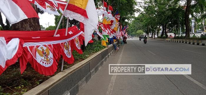 Ada Korona, Omzet Penjual Bendera di Medan Turun 40 Persen Jelang Hari Kemerdekaan