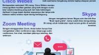 Infografis: 5 Aplikasi Meeting Online saat WFH