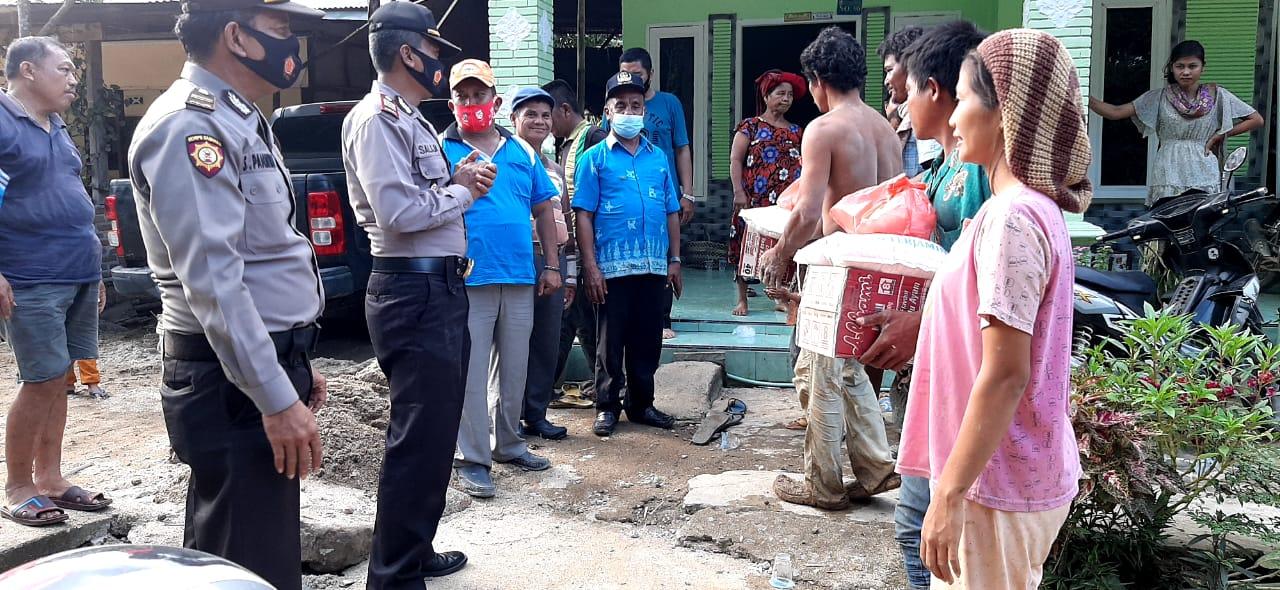 Kapolresta Deli Serdang Salurkan Bantuan Pangan untuk Korban Longsor dan Banjir