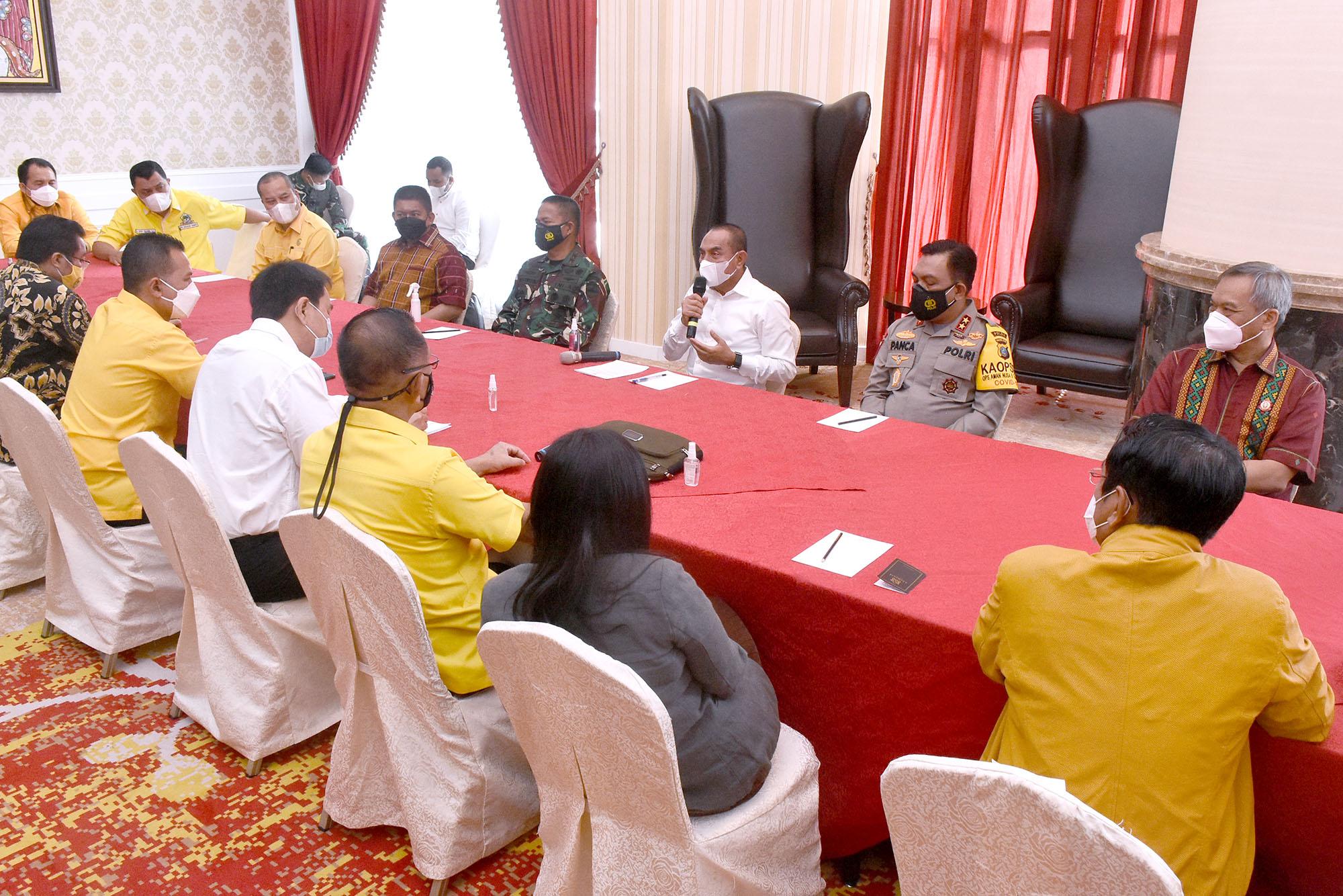 Silaturahmi dengan Anggota DPR RI, Ini yang Disampaikan Gubernur Sumut