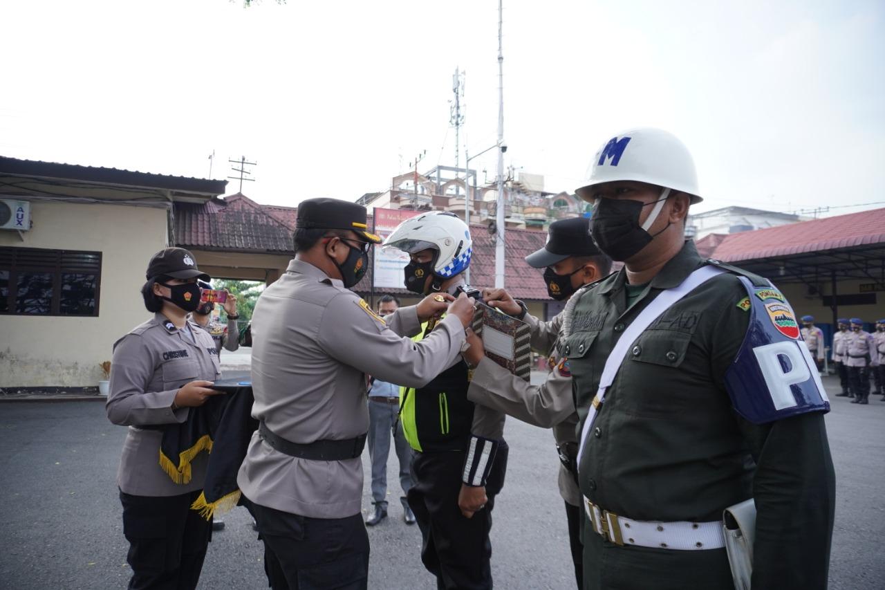 Kapolres Tebingtinggi Pimpin Apel Gelar Pasukan Operasi Keselamatan Toba 2021