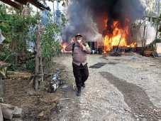 Dapur Minyak Kondensat Ilegal di Langkat Terbakar