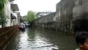 Diguyur Hujan, Pemukiman Warga Kota Medan Terendam Banjir