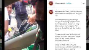 Debt Collector Keroyok Anggota TNI, Begini Kronologinya