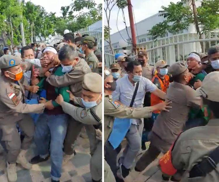 Dilarang Meliput saat Amankan Massa Aksi, Wartawan di Medan Kena Pukul