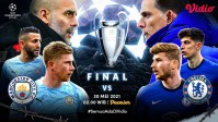 Link Live Streaming Final Liga CHampions Manchester City vs Chelsea