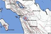 Gempa Tektonik M3,4 di Kedalaman 2 Km Guncang Padangsidimpuan