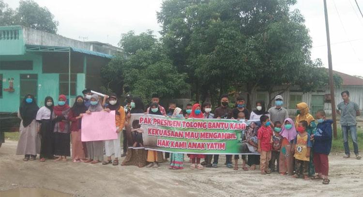13 Tahun Sewa Tanah Wakaf Tak Dibayar, Pengurus dan Anak Yatim Panti Asuhan Gelar Demo