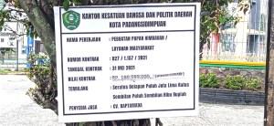 Proyek misterius di halaman bolak Kota Padangsidimpuan