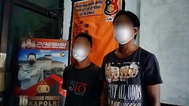 Palak Pedagang di Medan, Dua Preman Ini Diringkus Polisi
