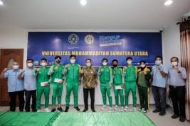 Rektor UMSU Lepas 7 Mahasiswa Atlet Sumut ke PON Papua