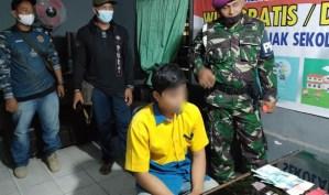 Anggota Yonif 8 Marinir Amankan Pengedar Narkoba di PT Piss Langkat