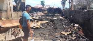 Kebakaran melanda pasar Inpres Soe yang terletak di Kelurahan Kota Baru, Kecamatan Kota Soe, Kabupaten Timor Tengah Selatan (TTS)
