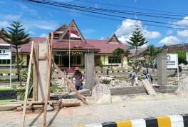Pagar Kantor Wali Kota Padangsidimpuan Direnovasi Lagi