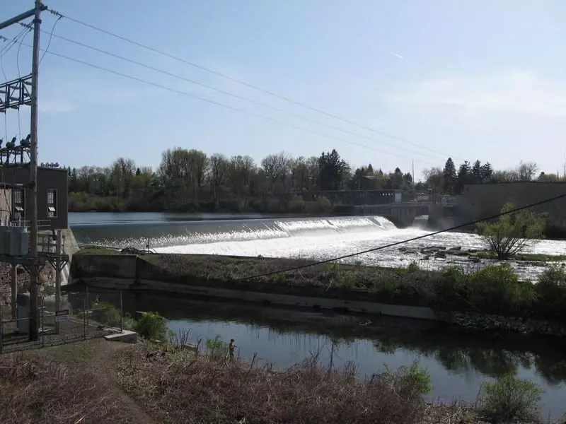Fulton Lock 3 Dam and Falls, Oswego County, New York