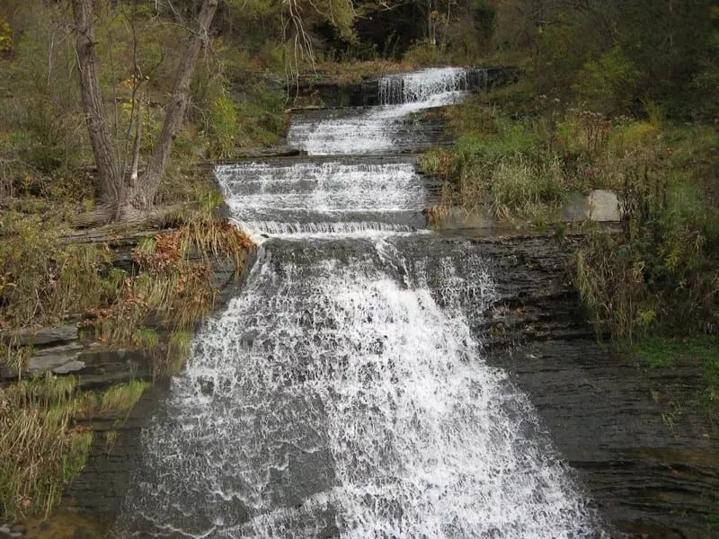 Johns Creek Glen Falls Lower, Schuyler County, New 10-19-2010
