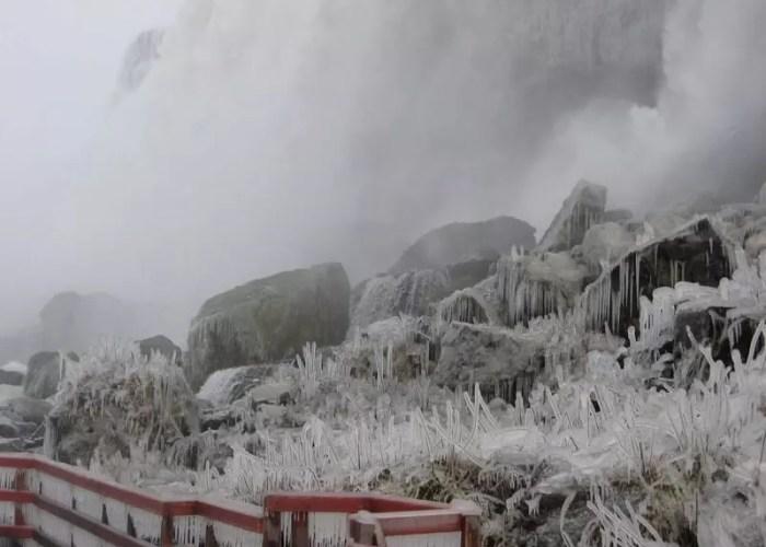 Standing at the bottom of Bridal Veil Falls, Niagara Falls State Park 2007