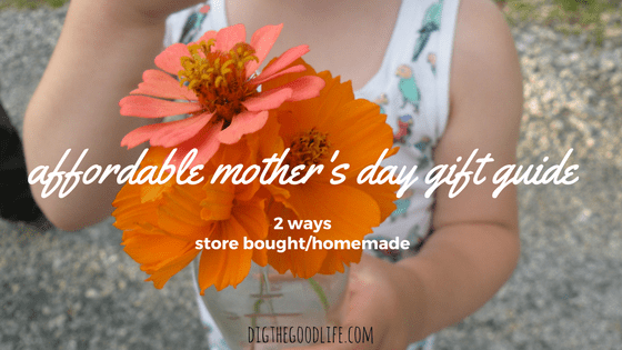 affordable mother's day gift guide, 2 ways