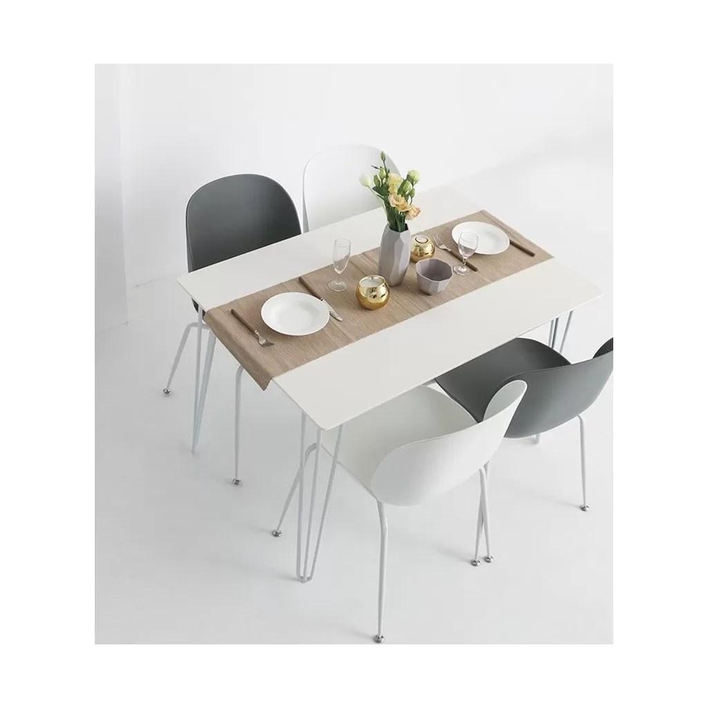 rectangular dinning table white top and gold feet requiem diiiz