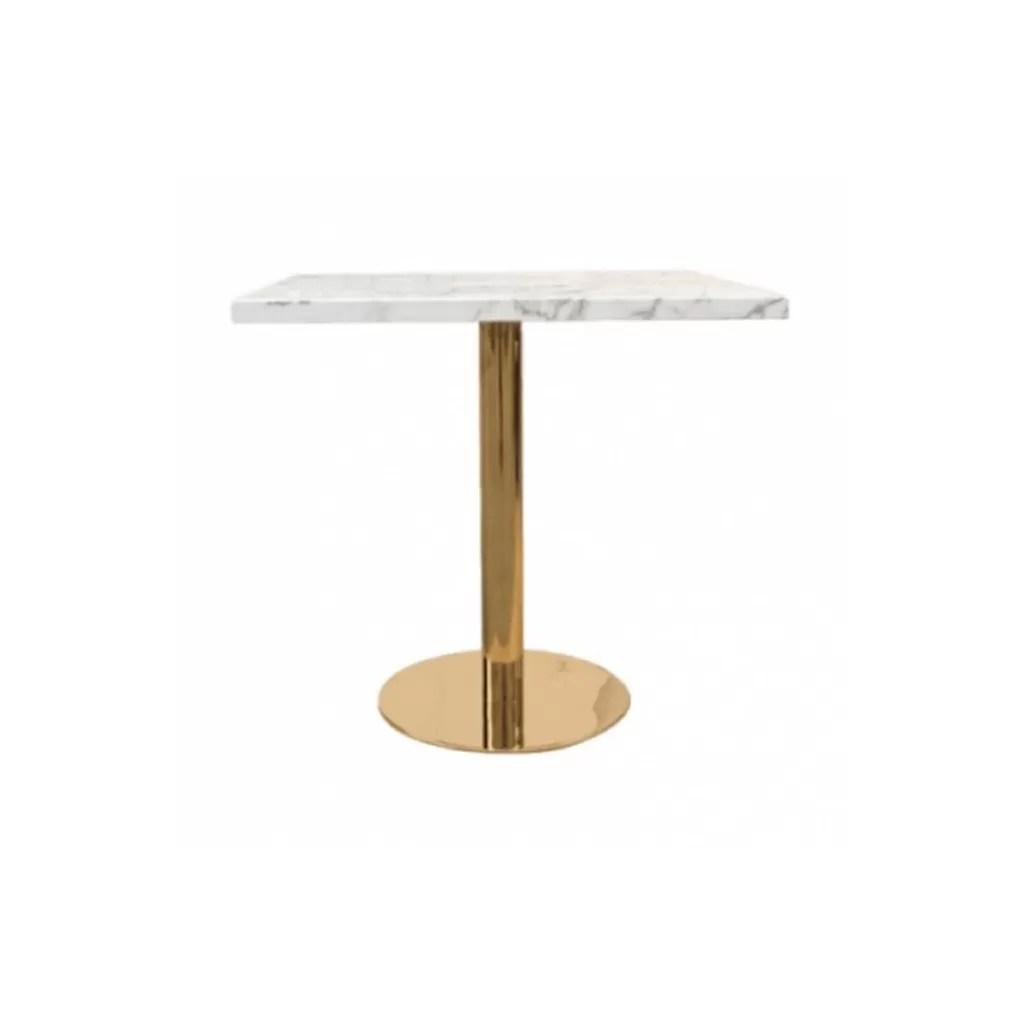 table de restaurant carree en effet marbre rita table pour horeca diiiz