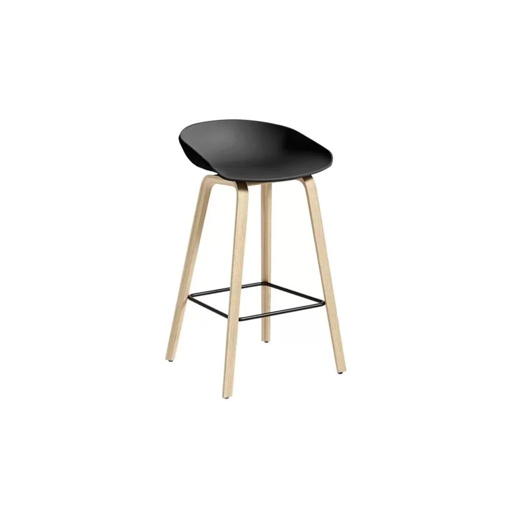 chaise de bar plastique avec pieds en bois hyge t32 diiiz