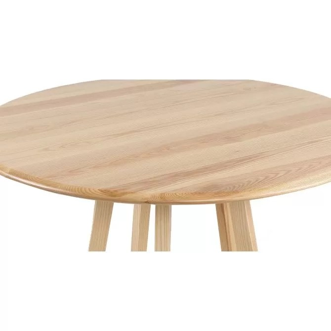 table bois ronde bois massif