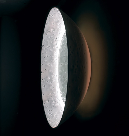 Bodo Sperlein miroir Eclipse Dupont Corian Swarowski