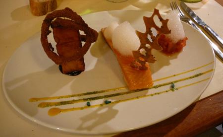 Monjul restaurant Paris saumon épices kebab