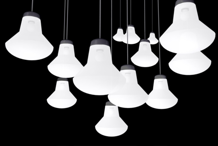 Tom Dixon lampe basse consommation Glowb