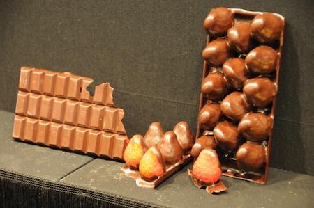 tablette fraises chocolat