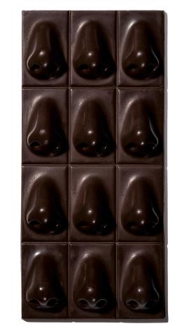 tablette de chocolat nez en bouche
