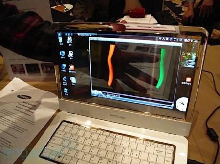 samsung transparent laptop pc portable a écran OLED transparent
