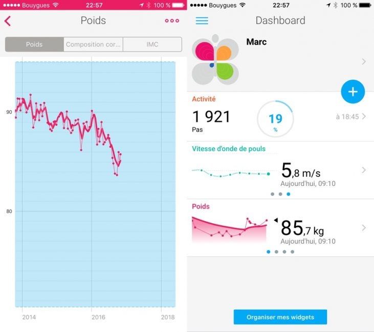 Withings body cardio test avis balance connectée