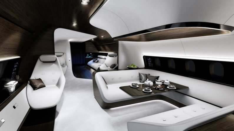 Mercedes-Benz Style and Lufthansa Technik announced their collaboration on the design and fit-out of VIP aircraft cabins at EBACE 2015, which took place in Geneva from 19 to 21 May 2015.The two companies are jointly developing a totally new, luxurious and holistic cabin concept for short- and medium-range aircraft