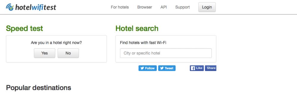 Hotel Wifi Test
