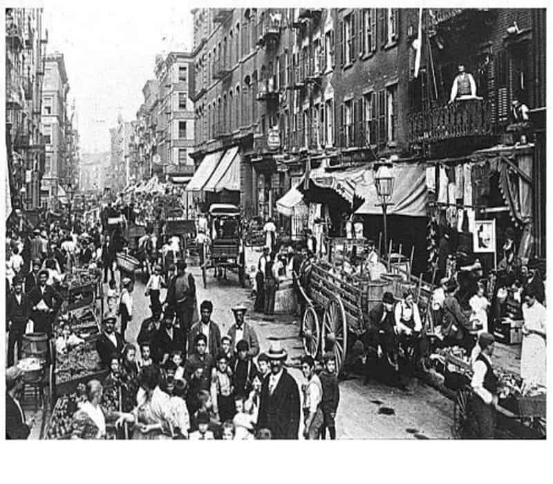 real estate - mulberry street Manhattan New York 1900