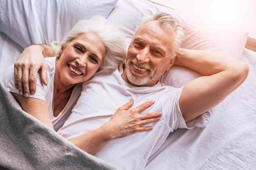 senior couple in bed - Which food is good for sex?